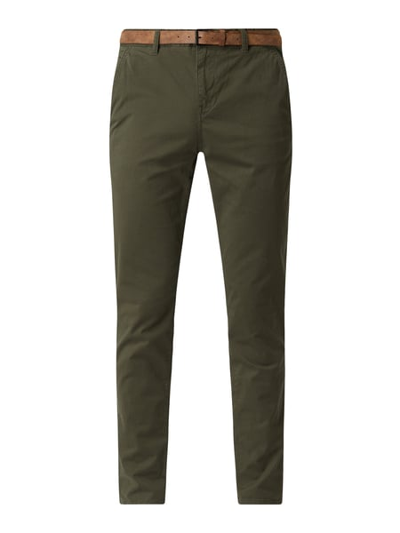 Tom Tailor Denim Slim Fit Chino mit Stretch-Anteil Grün - 1