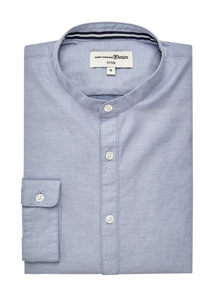 Tom Tailor Denim Slim Fit Freizeithemd aus Oxford Blau - 1