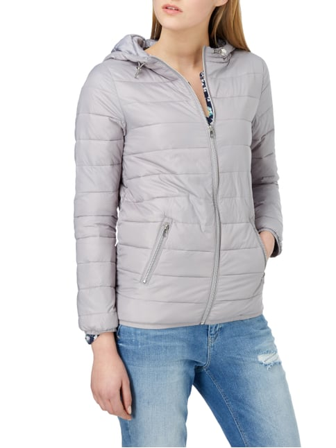 Tom Tailor Denim Steppjacke mit Kapuze Hellgrau - 1