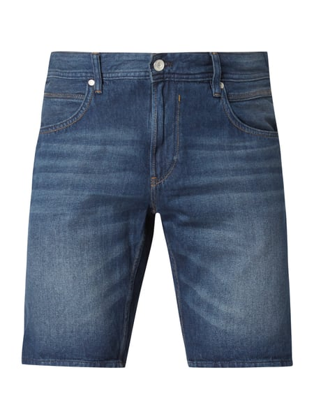 Tom Tailor Denim Stone Washed Jeansshorts aus Baumwolle Marineblau