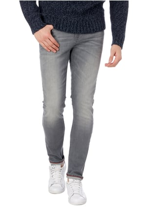 Tom Tailor Denim Stone Washed Skinny Fit Jeans Mittelgrau - 1