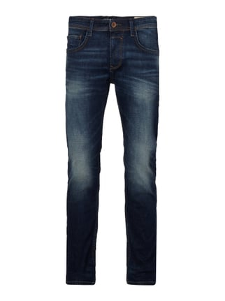 Stone Washed Super Slim Fit 5-Pocket-Jeans Blau / Türkis - 1