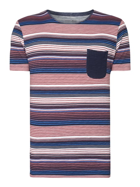 Tom Tailor Denim T-Shirt mit Allover-Muster Rosa
