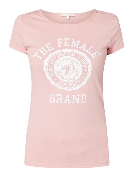 Tom Tailor Denim T-Shirt mit Logo-Print Rosa - 1