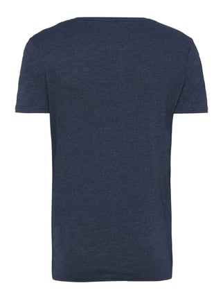 Tom Tailor Denim T-Shirt mit Logo-Print Marineblau meliert - 1