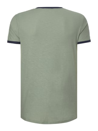 Tom Tailor Denim T-Shirt mit Logo-Print Olivgrün - 1