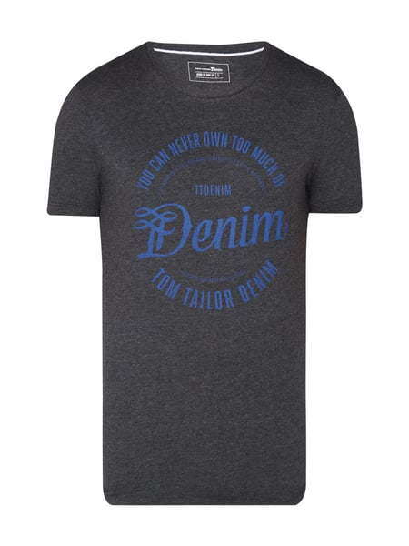 Tom Tailor Denim T-Shirt mit Logo-Print Schwarz