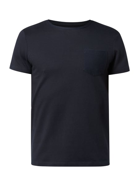 Tom Tailor Denim T-Shirt mit Webmuster Blau - 1