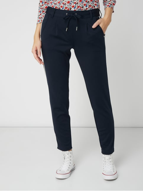 53696a2f65 ... Tom Tailor Denim Track Pants mit Tunnelzug Dunkelblau - 1