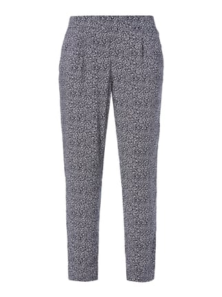 Easy Pants mit Allover-Muster Blau / Türkis - 1