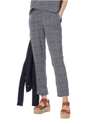 Tom Tailor Easy Pants mit Allover-Muster Marineblau - 1