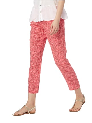 Tom Tailor Easy Pants mit Allover-Muster Pink - 1