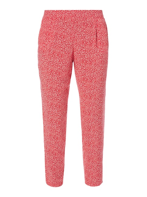 Easy Pants mit Allover-Muster Rosé - 1
