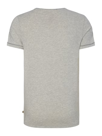 Tom Tailor Fitted T-Shirt mit Brusttasche Hellgrau - 1
