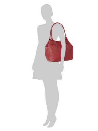 Tom Tailor Handtasche mit Logo-Applikation in Rot - 1