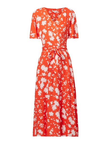 Tom Tailor Kleid aus Viskose mit floralem Muster Orange - 1