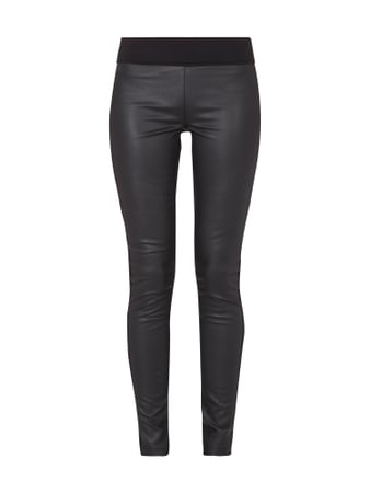 Tom Tailor Leggings mit Vorderseite in Leder-Optik Grau / Schwarz - 1