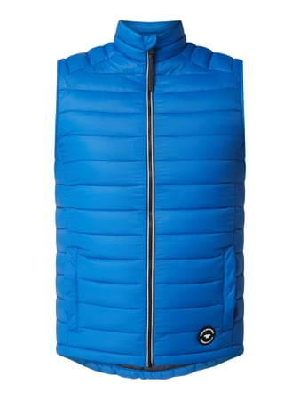 Tom Tailor Light-Steppweste mit Stehkragen Blau - 1