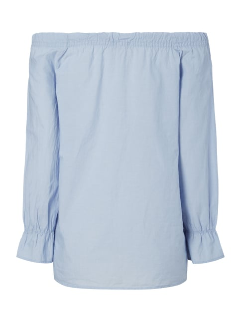 Tom Tailor Off Shoulder Blusenshirt aus Baumwolle Bleu - 1