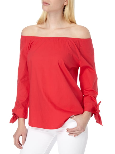 Tom Tailor Off Shoulder Blusenshirt aus Baumwolle Rot - 1