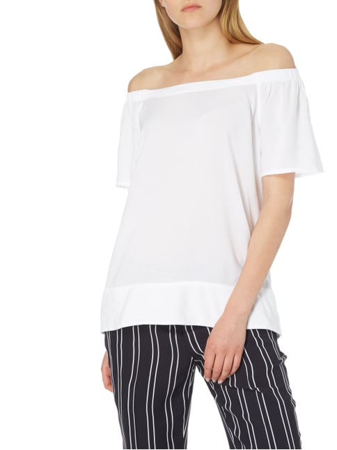 Tom Tailor Off Shoulder Blusenshirt aus Viskose Weiß - 1