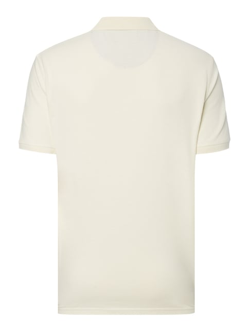 Tom Tailor Poloshirt mit Label-Stickerei Offwhite - 1