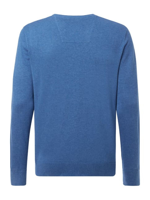 Tom Tailor Pullover aus Baumwolle Jeans meliert - 1