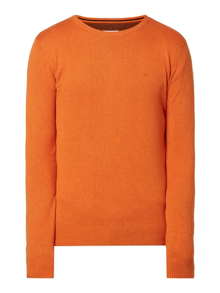 Tom Tailor Pullover aus Baumwolle mit Logo-Stickerei Orange - 1