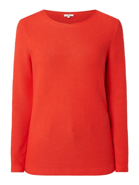 Tom Tailor Pullover aus Baumwolle Rot - 1