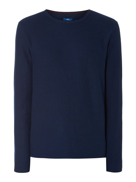 Tom Tailor Pullover in Melangeoptik Anthrazit