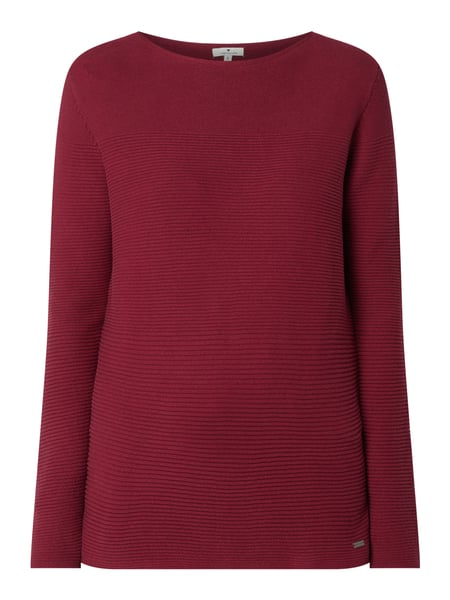 Tom Tailor Pullover mit Logo-Applikation Rot - 1