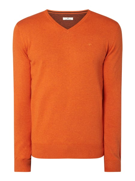 Tom Tailor Pullover mit V-Ausschnitt Orange - 1