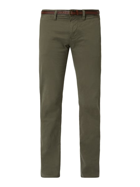 Tom Tailor Regular Fit Chino mit Gürtel Grün - 1