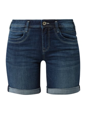 Tom Tailor Regular Fit Jeansshorts mit Kontrastnähten Blau - 1