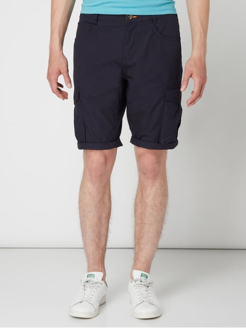 495817b0624deb ... Tom Tailor Regular Slim Fit Cargobermudas aus Baumwolle Marineblau - 1
