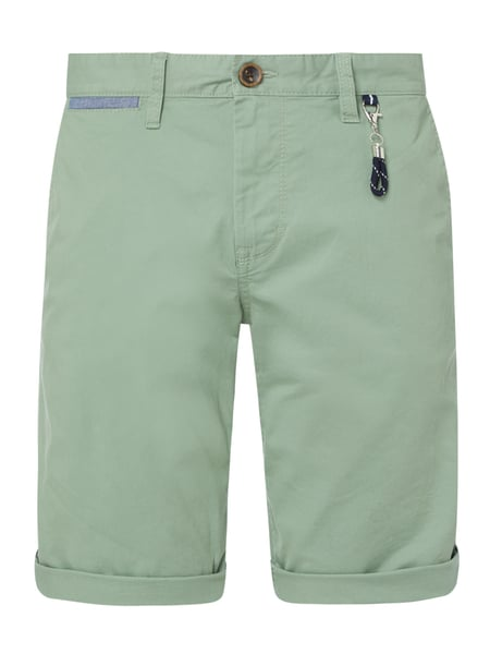 Tom Tailor Regular Slim Fit Chino-Shorts mit Stretch-Anteil Modell 'Josh' Grün - 1