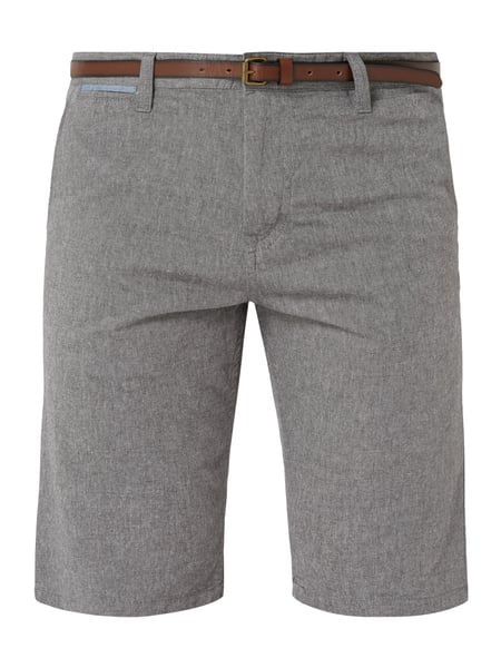 Tom Tailor Regular Slim Fit Chinoshorts mit Gürtel Blau - 1