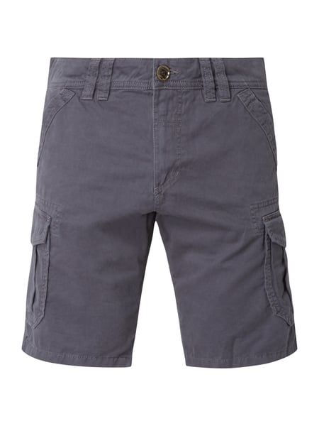 Tom Tailor Relaxed Fit Cargobermudas aus Baumwolle Blau