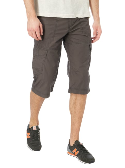 Tom Tailor Relaxed Fit Cargobermudas mit Gürtel Anthrazit - 1