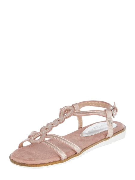 Tom Tailor Sandalen in Metallic-Optik Rosa - 1