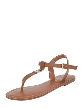 Tom Tailor Sandalen mit Logo-Applikation Braun - 1