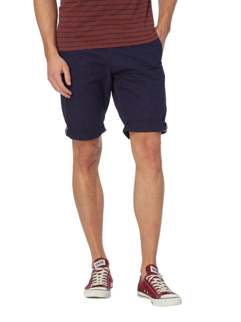 Tom Tailor Slim Fit Bermudas mit Punktemuster Marineblau - 1