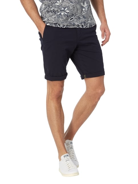 Tom Tailor Slim Fit Bermudas mit Stretch-Anteil Marineblau - 1
