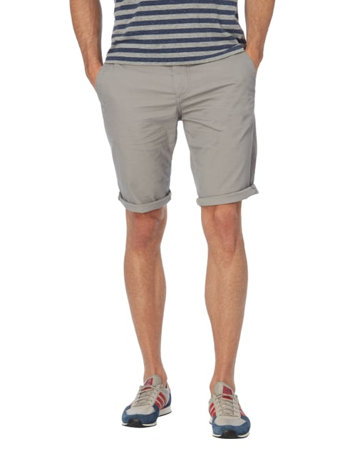 Tom Tailor Slim Fit Bermudas mit Stretch-Anteil Mittelgrau - 1