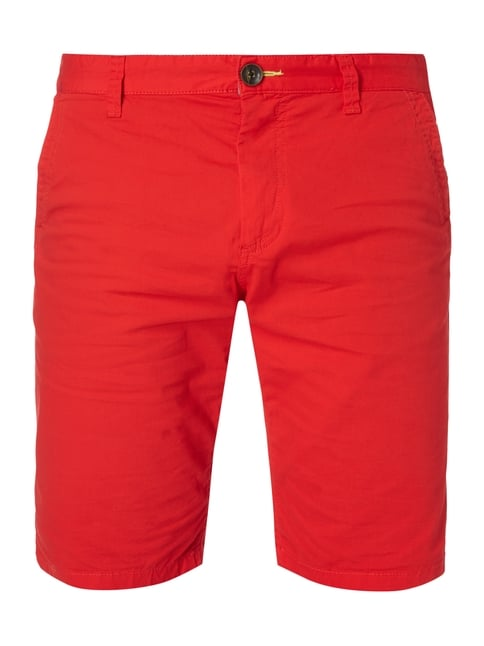 Slim Fit Bermudas mit Stretch-Anteil Rot - 1
