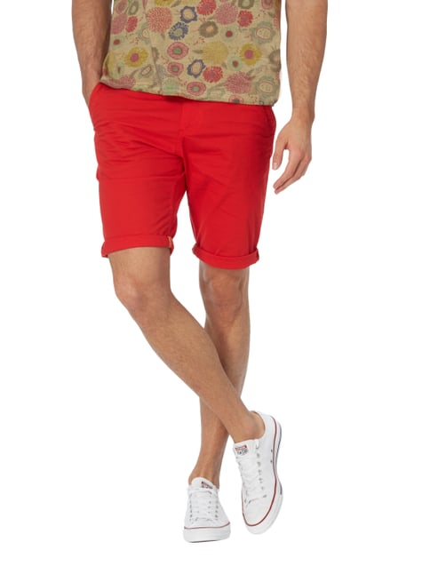 Tom Tailor Slim Fit Bermudas mit Stretch-Anteil Rot - 1