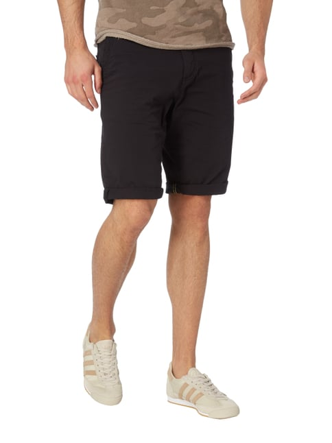Tom Tailor Slim Fit Bermudas mit Stretch-Anteil Schwarz - 1