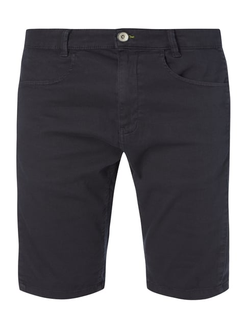 Slim Fit Bermudas mit Webstruktur Blau / Türkis - 1