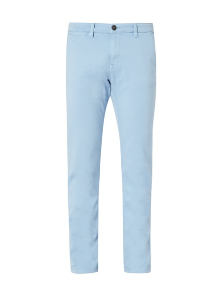 Tom Tailor Slim Fit Chino im Washed Out Look Hellblau