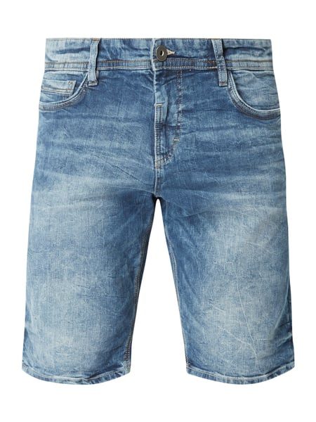 Tom Tailor Stone Washed Regular Fit Jeansshorts Hellgrau